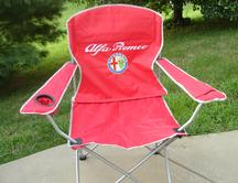 Red Alfa Romeo Logo Chair
